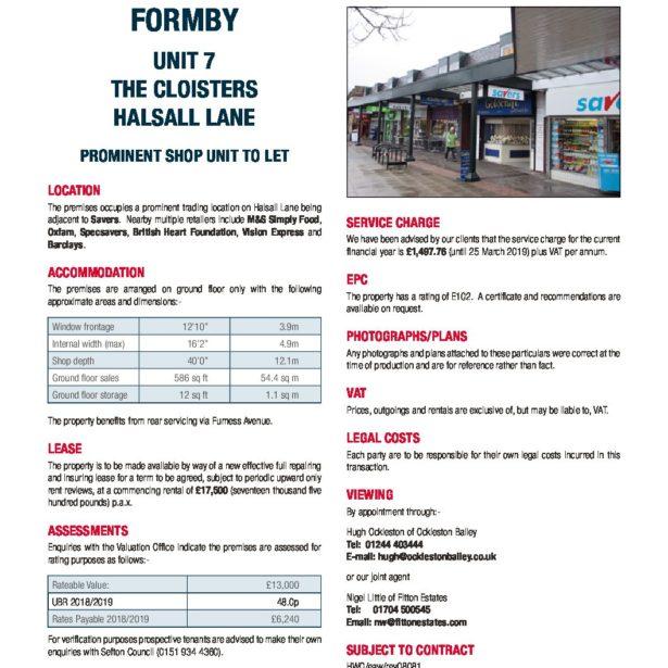 Formby 7 The Cloisters Ockleston Bailey